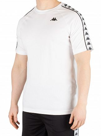 Kappa White/Black 222 Banda Coen T-Shirt