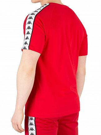 Kappa Red/White/Black 222 Banda Coen T-Shirt