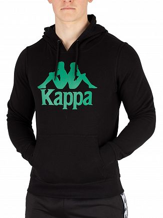 Kappa Black/Green Authentic Zimim Slim Pullover Hoodie