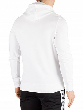 Kappa White/Black Authentic Zimim Slim Pullover Hoodie