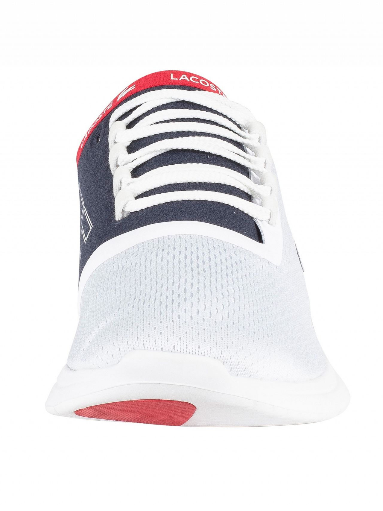 fdf44984325fa Lacoste White/Navy/Red LT Fit 119 5 SMA Trainers
