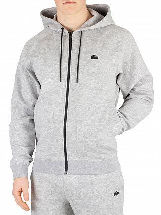 Lacoste Grey Motion Zip Hoodie