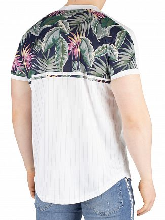 Sik Silk White Jeremy Vine Baseball T-Shirt