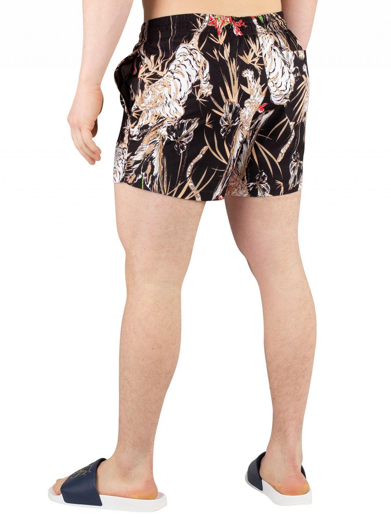 707768459b Sik Silk Black Standard Floral Swim Shorts | Standout