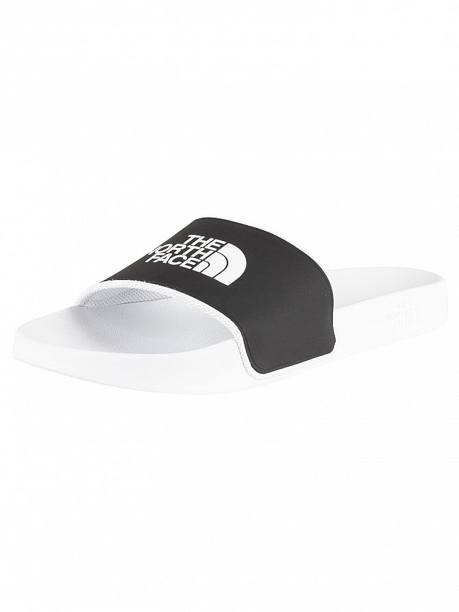 The North Face White/Black Base Camp Sliders