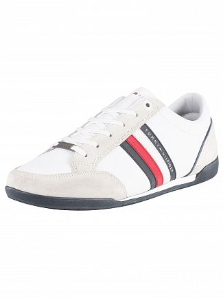 Tommy Hilfiger White Corporate Material Mix Cupsole Trainers