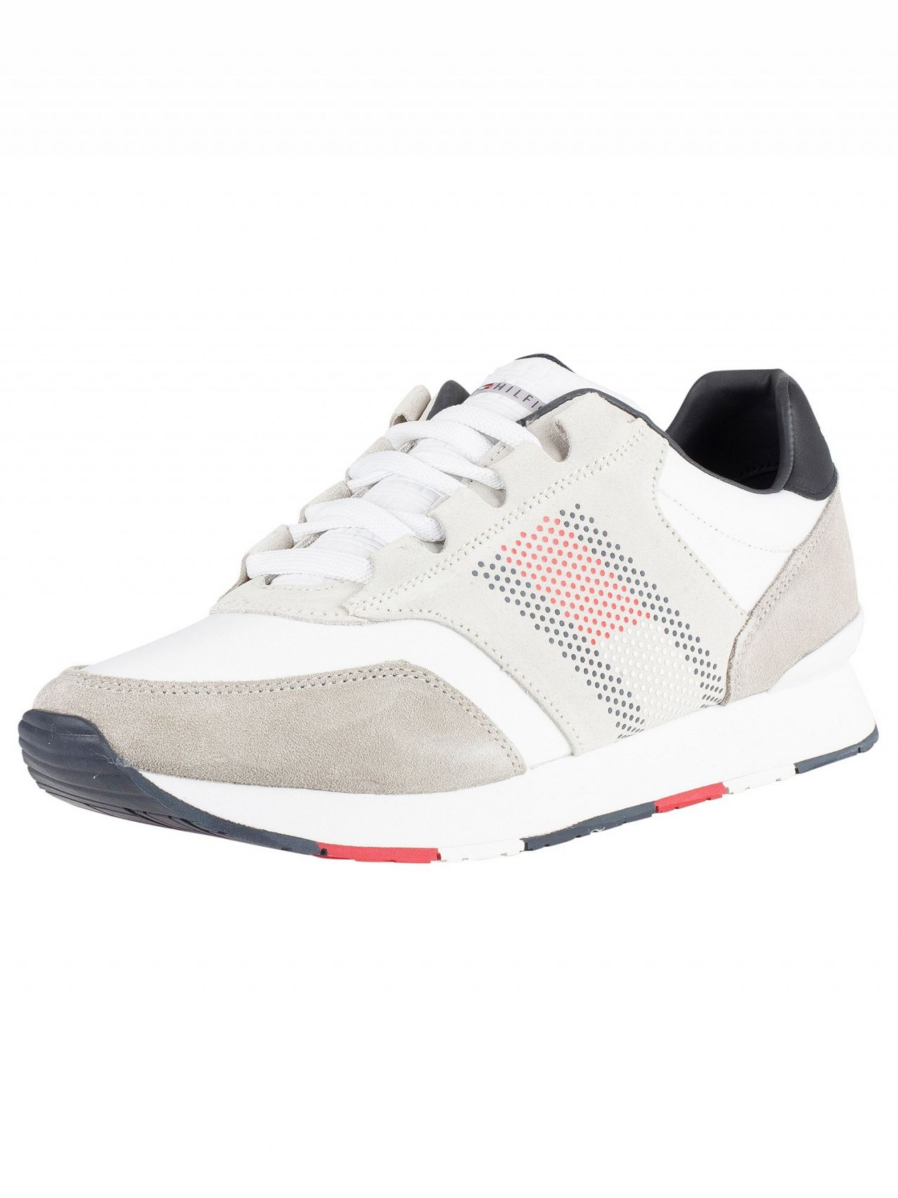 283591cf Tommy Hilfiger White Corporate Material Mix Runner Trainers | Standout
