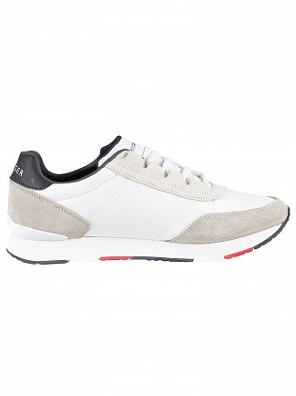 Tommy Hilfiger White Corporate Material Mix Runner Trainers