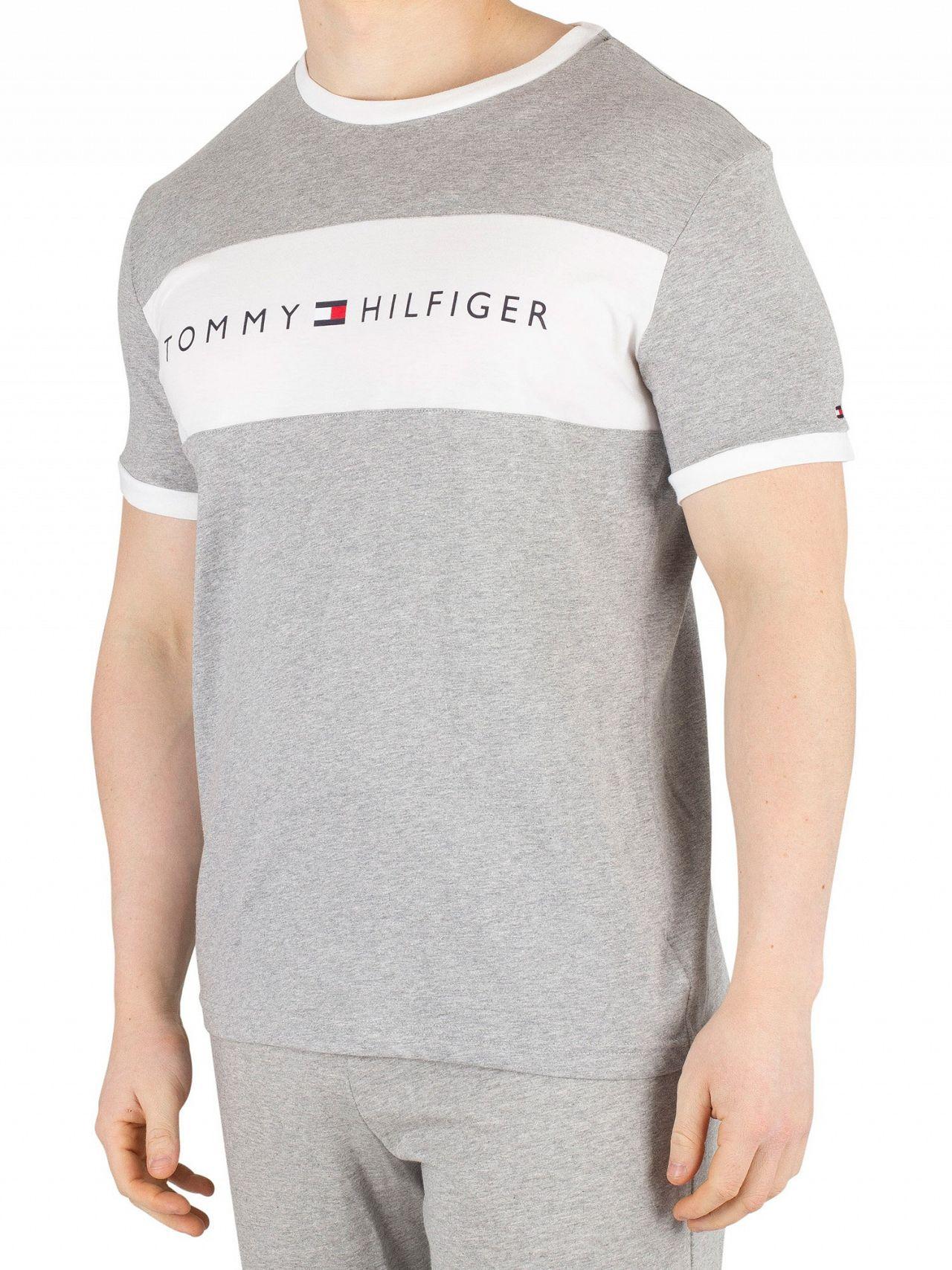 bcd53099 Tommy Hilfiger Grey Heather Flag Logo T-Shirt | Standout