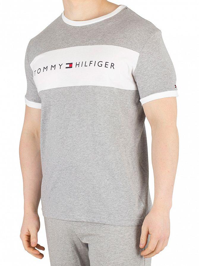 Tommy Hilfiger Grey Heather Flag Logo T-Shirt