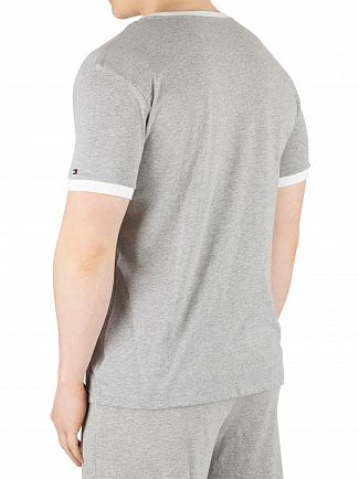 Tommy Hilfiger Grey Heather Flag Logo T-Shirt