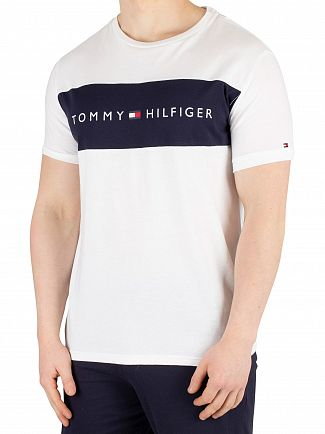 Tommy Hilfiger White Flag Logo T-Shirt