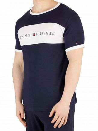 Tommy Hilfiger Navy Blazer Flag Logo T-Shirt