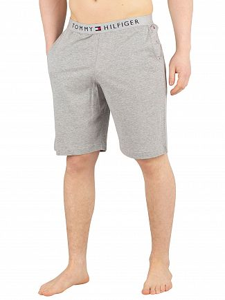 Tommy Hilfiger Grey Heather Logo Pyjama Shorts