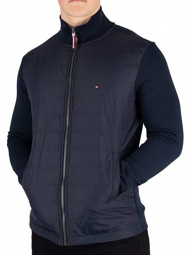 Tommy Hilfiger Sky Captain Mixed Media Zip Jacket
