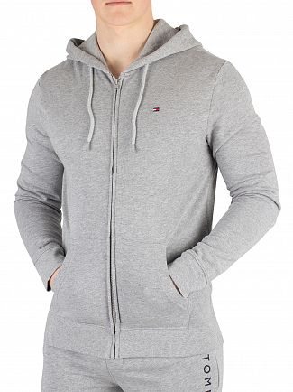 Tommy Hilfiger Grey Heather Zip Thru Hoodie