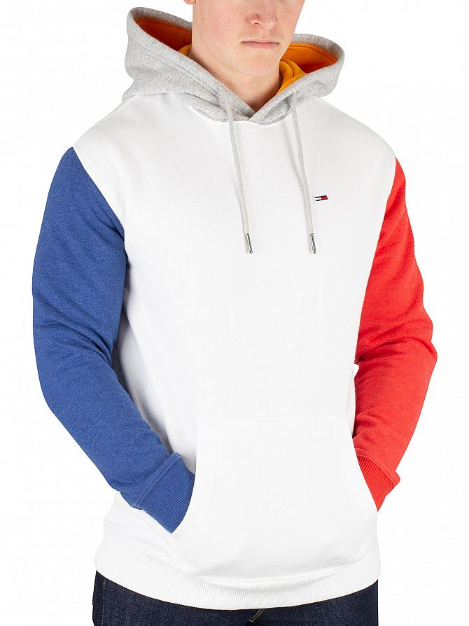 Tommy Jeans Classic White/Multi Colour Block Hoodie