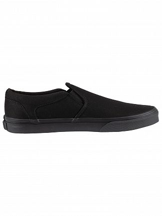 Vans Black/Black Asher Canvas Trainers