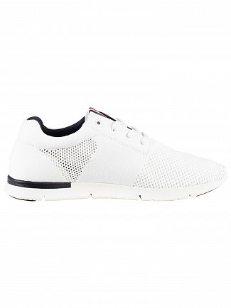Tommy Hilfiger White Mesh Embroidery Logo Trainers