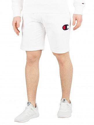 Champion White Bermuda Sweat Shorts