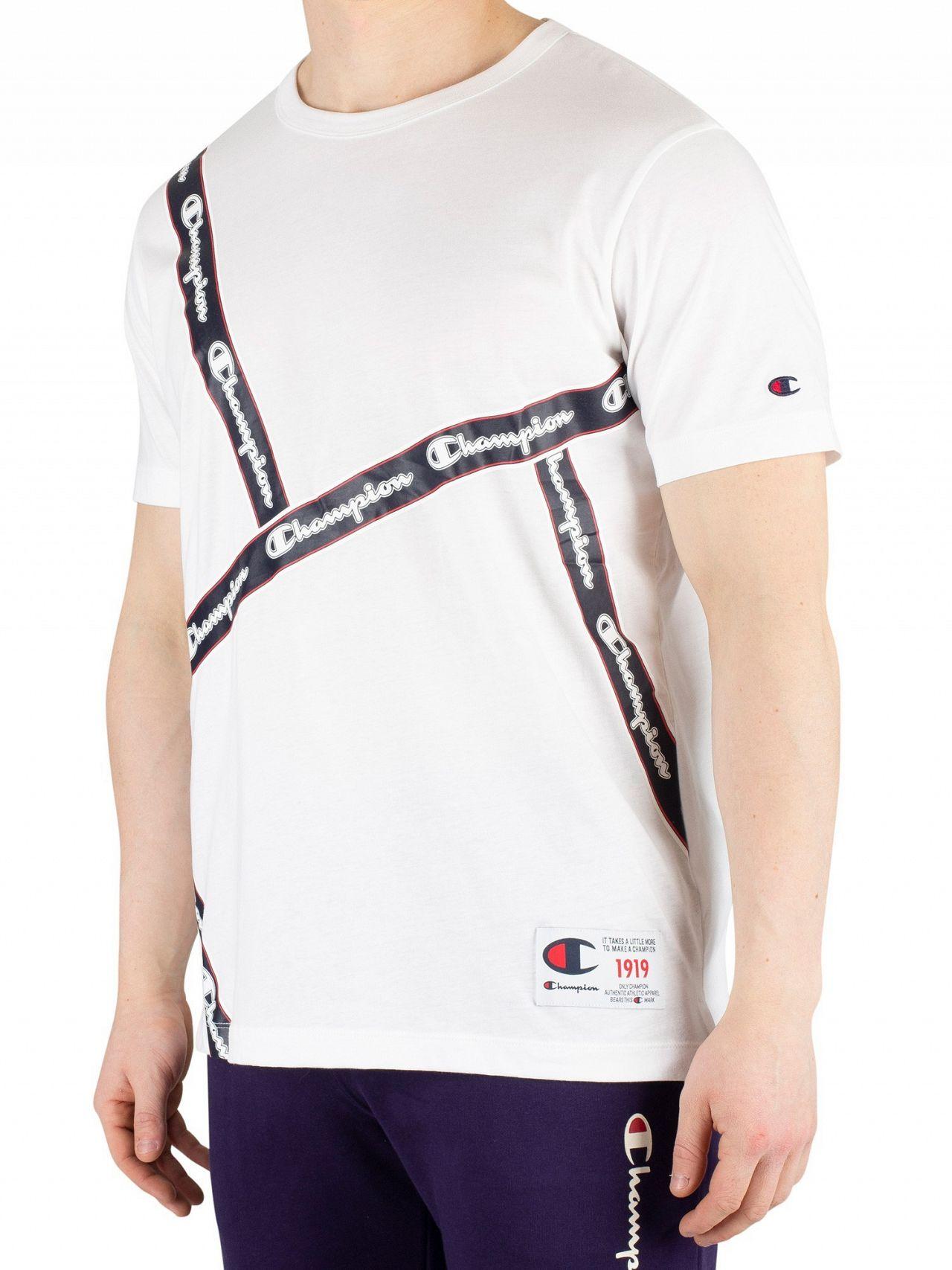 f7c6bad75ebd Champion White Crew T-Shirt | Standout