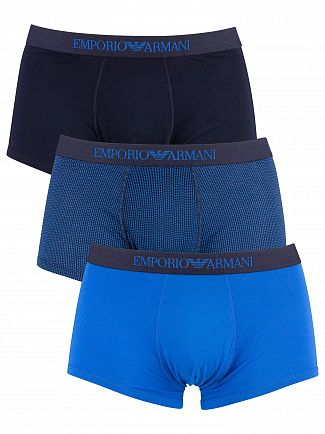 Emporio Armani Wave/Maine 3 Pack Cotton Trunks