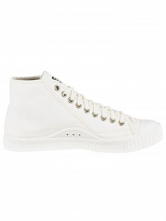 G-Star White Rovulc Herringbone Denim Trainers