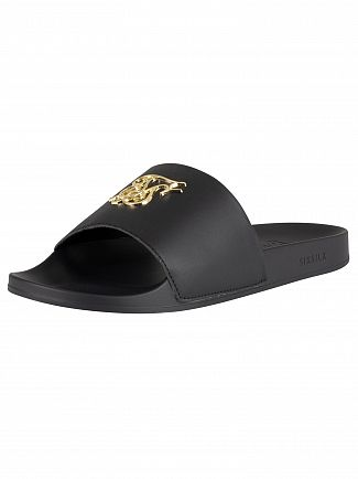Sik Silk Black/Gold Roma Lux Sliders