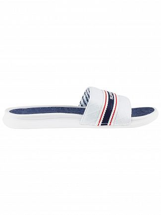 Superdry Off White/Navy Blue/Red Crewe International Sliders