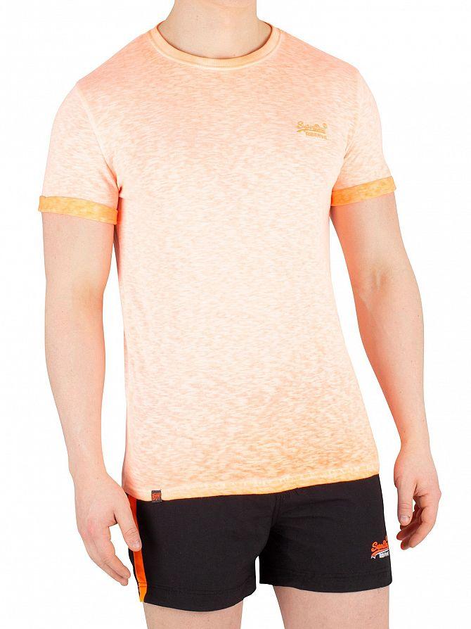 Superdry Hyper Pop Orange Low Roller T-Shirt