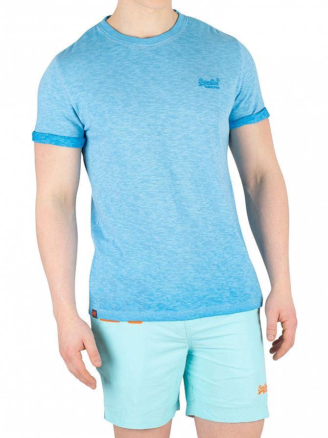 Superdry Deep Turq Low Roller T-Shirt