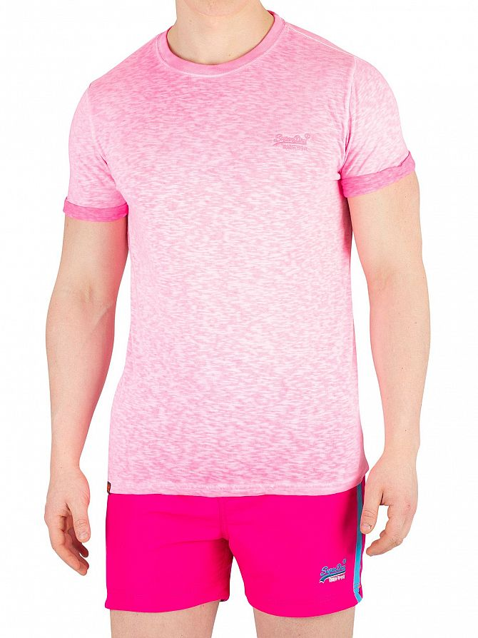 Superdry Deep Pop Pink Low Roller T-Shirt