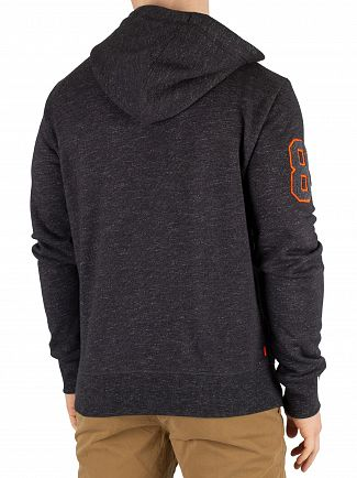 Superdry Black Carbon Feeder Orange Label Field Zip Hoodie