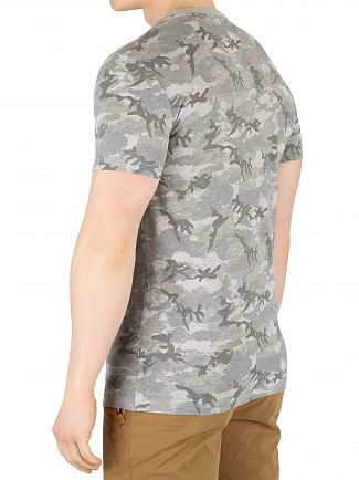 Superdry Concrete Camo Orange Label Vintage Embroidery T-Shirt