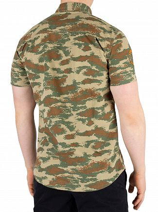Superdry Dispersal Green Camo Rookie Parachute Lite Shortsleeved Shirt