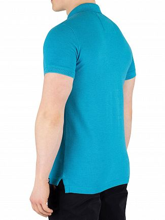 Superdry Beach Blue Marl Vintage Destroyed Poloshirt