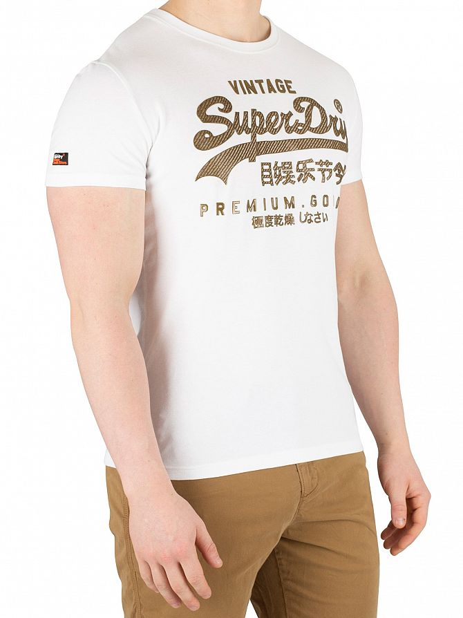 Superdry Optic Vintage Logo Authentic Mid Weight T-Shirt