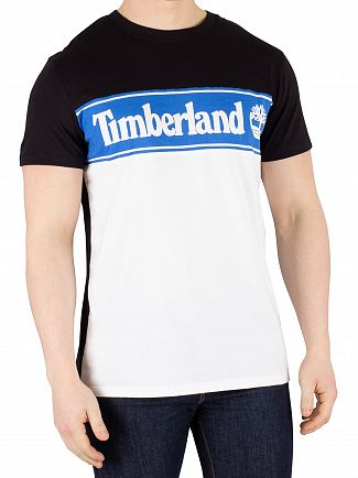 Timberland Black/Blue/White Cut & Sew Logo T-Shirt