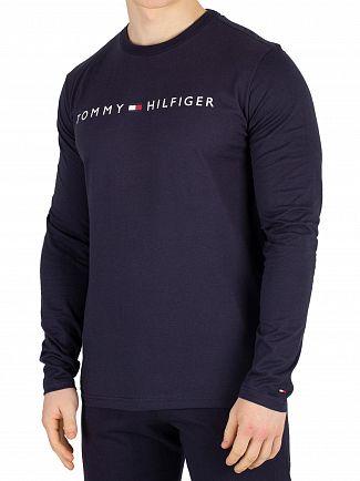 Tommy Hilfiger Navy Blazer Longsleeved Logo T-Shirt