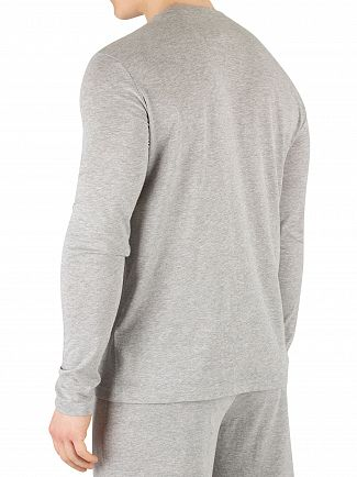 Tommy Hilfiger Grey Heather Longsleeved Logo T-Shirt