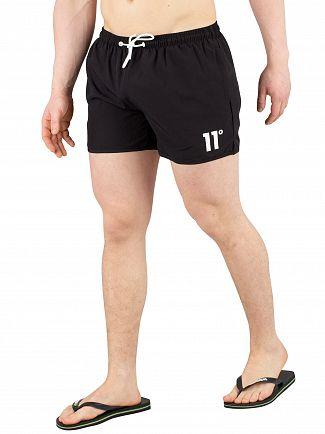 11 Degrees Black Core Swimshorts