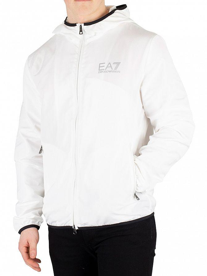 EA7 White Lightweight Jacket