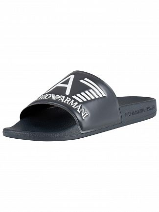 EA7 Navy Sea World Sliders