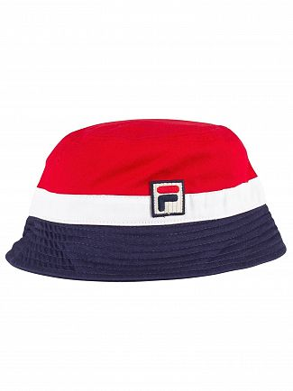 Fila Chinese Red/Peacoat/White Basil Bucket Hat