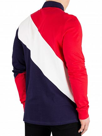 Fila Peacoat/Chinese Red/White Mazen Longsleeved Poloshirt