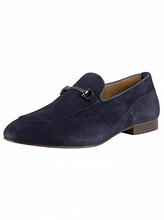 H by Hudson Navy Banchory Suede Shoes