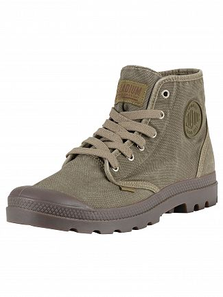 Palladium Dark Olive Pampa High Boots