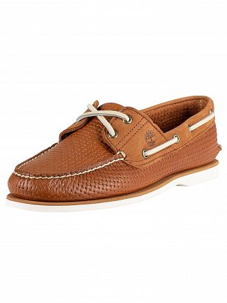 Timberland Brown Full Grain Classic Leather Boat Shoes