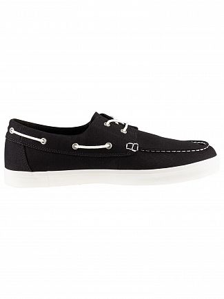 Timberland Black Union Wharf Boat Shoes