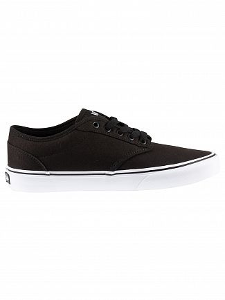 Vans Black/White Atwood Canvas Trainers
